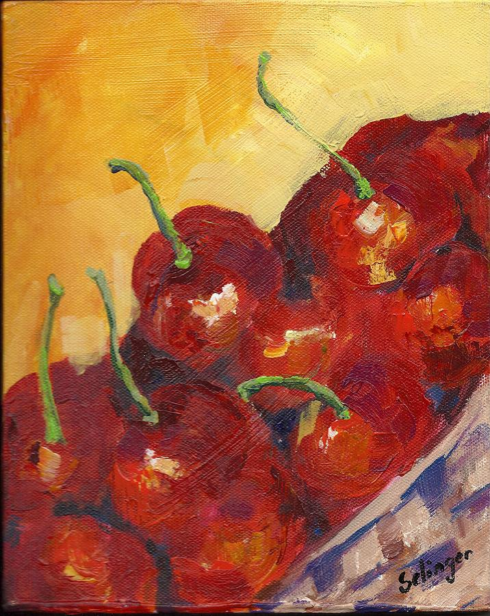 Cherries in a Basket by Kathie Selinger