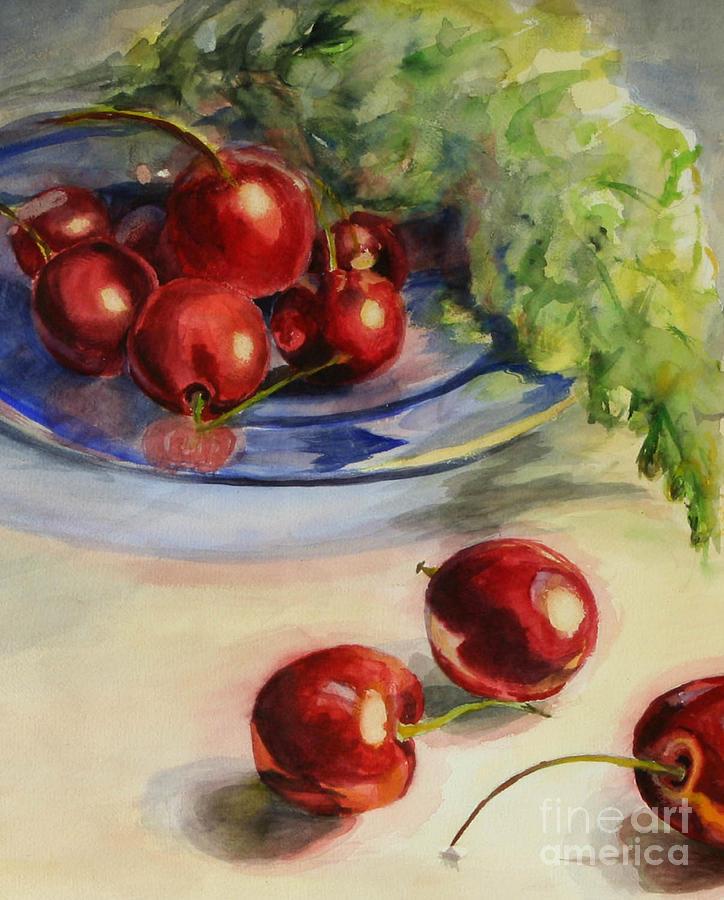 Cherries Painting - Cherries by Lori McCray