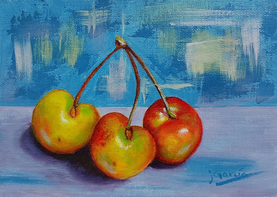 Cherries Trio by Janet Garcia