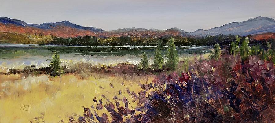 New Hampshire Painting - Cherripondi by Susan Hanna