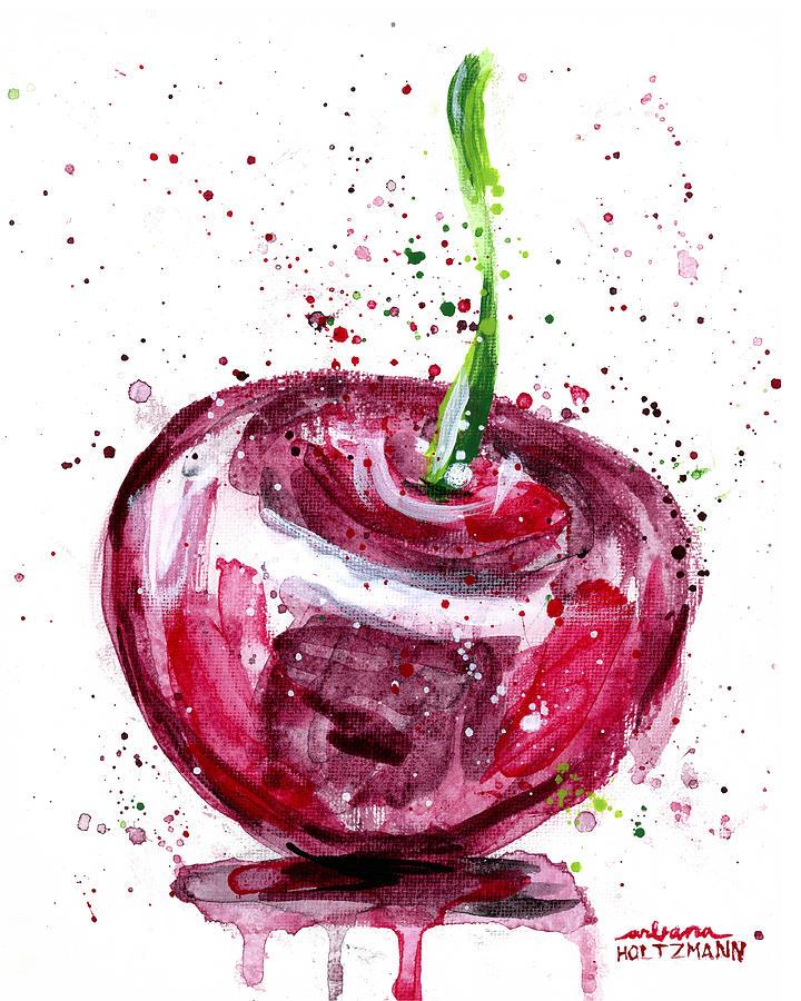 Cherry Painting - Cherry 1 by Arleana Holtzmann