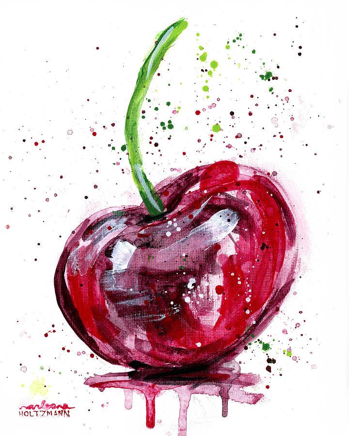 Cherry Painting - Cherry 2 by Arleana Holtzmann