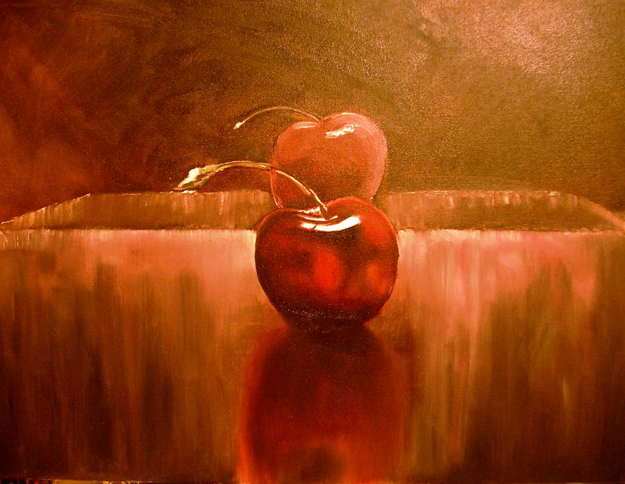 Red Cherry Painting - Cherry 23 Revised by Ruben Barbosa