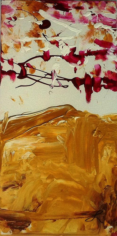 Cherry Blossoms Painting - Cherry Blosoms II by Luz Elena Aponte