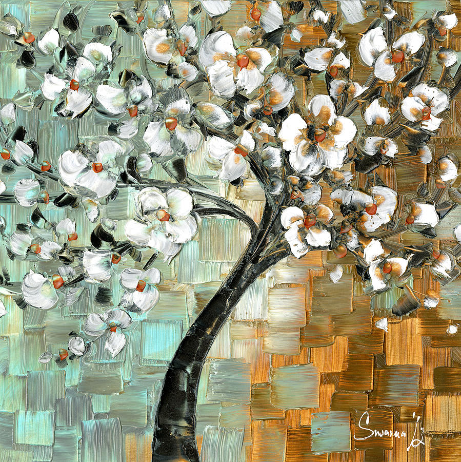 Cherry Blossom Canvas Wall Art cherry blossom paintingsusanna shap