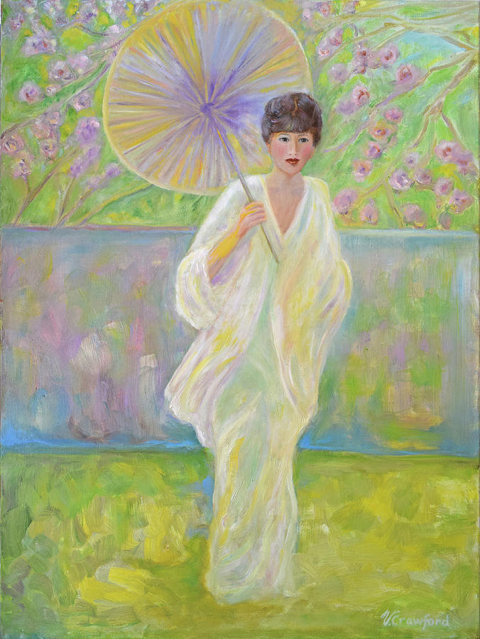 Japanese Painting - Cherry Blossom Time by Verlaine Crawford
