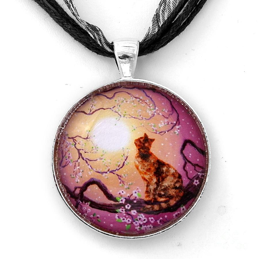 Jewelry Jewelry - Cherry Blossom Waltz Handmade Pendant by Laura Iverson