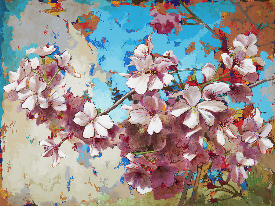 Cherry Blossoms Painting - Cherry Blossoms #3 by David Palmer