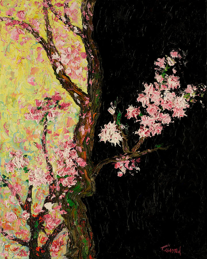Flowers Painting - Cherry Blossoms 3 by Timothy Clayton