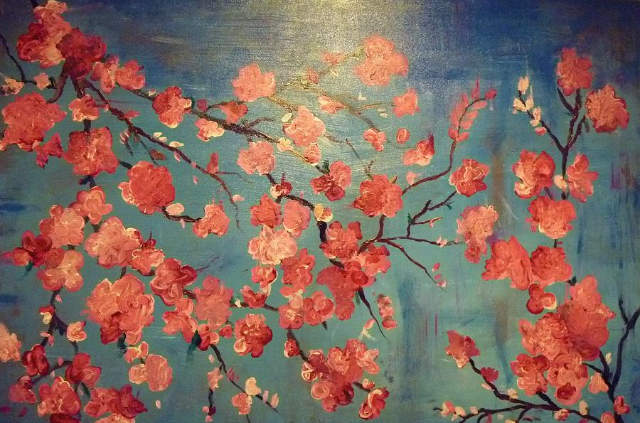 Flowers Painting - Cherry Blossoms by Anza Arain