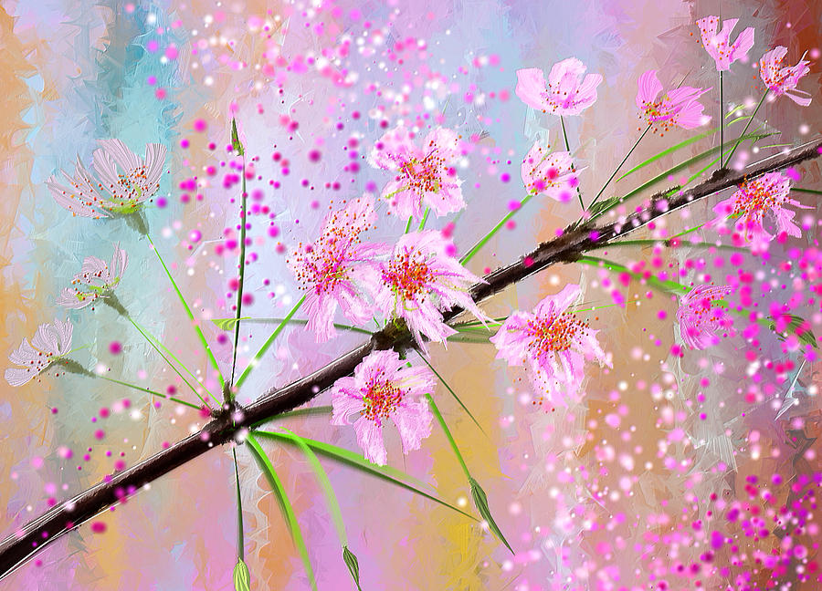How To Paint Cherry Blossoms On Canvas