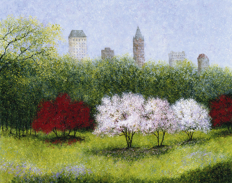 New York City Painting - Cherry Blossoms Central Park by Patrick Antonelle