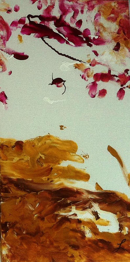Cherry Blossoms Painting - Cherry Blossoms IIi by Luz Elena Aponte