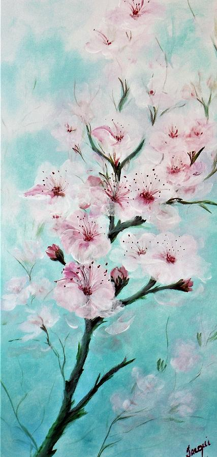 Flowers Painting - Cherry Blossoms by Jacqueline Whitcomb