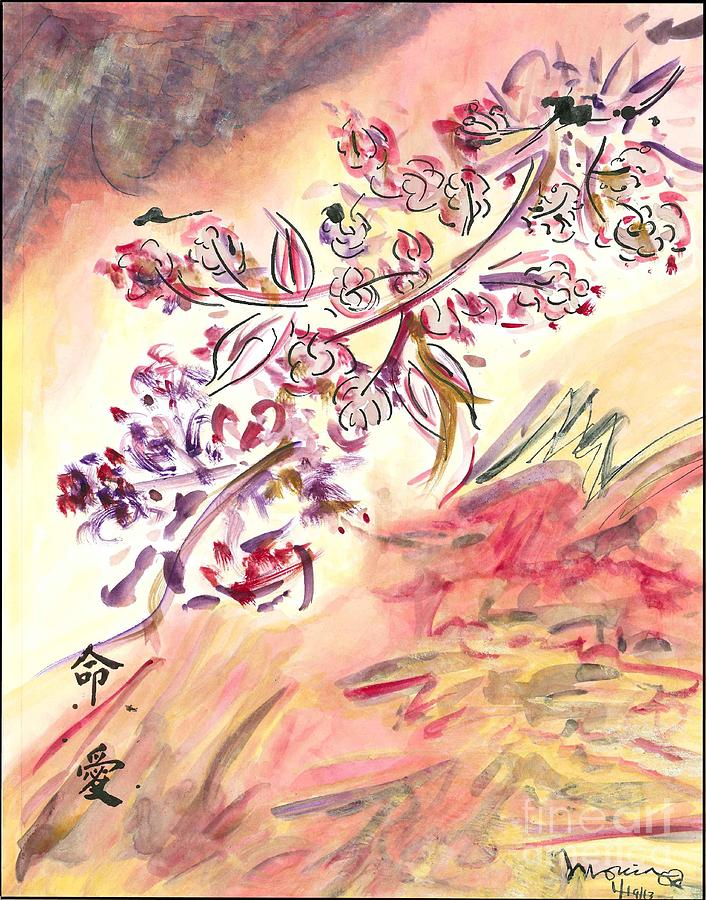 Cherry Blossoms Painting by Monica Mitchell
