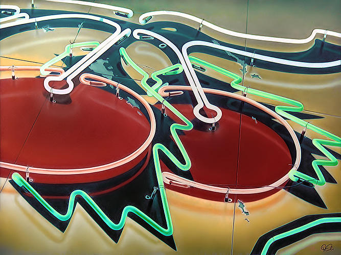 Sign Painting - Cherry Bomb 1 by Van Cordle