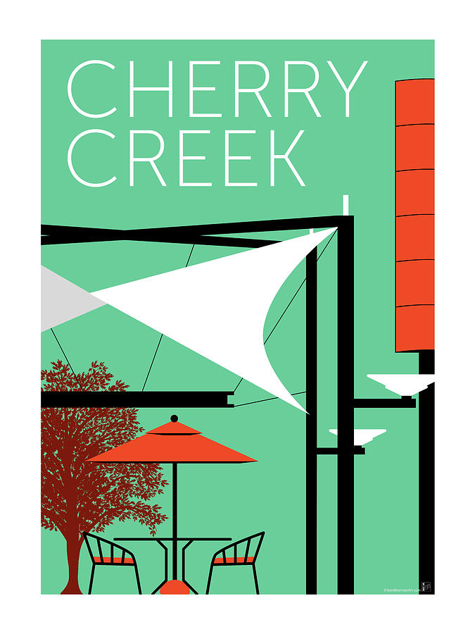 Cherry Creek Aqua by Sam Brennan