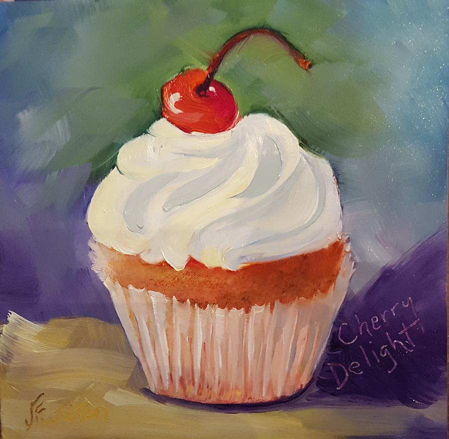 Cherry Delight Cupcake by Judy Fischer Walton