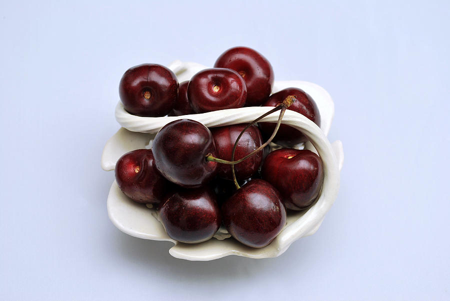 Still Life Photograph - Cherry Dish by Terence Davis