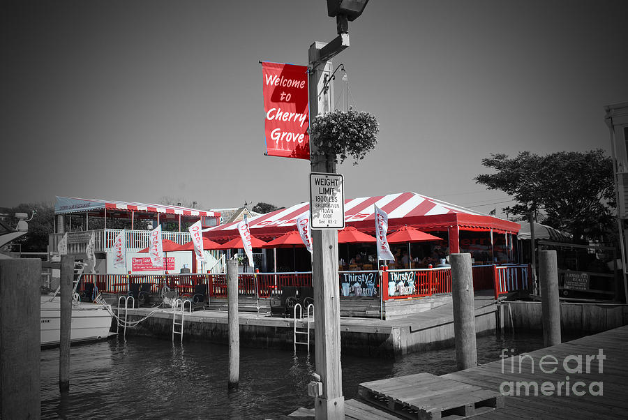 Color Photograph - Cherry Grove Welcome by Jost Houk
