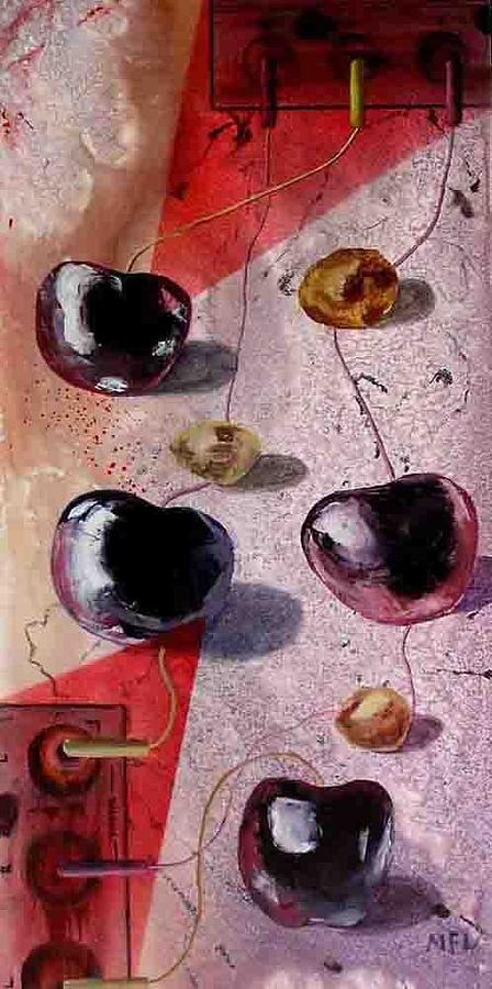 Cherry Music Painting by Evguenia Men