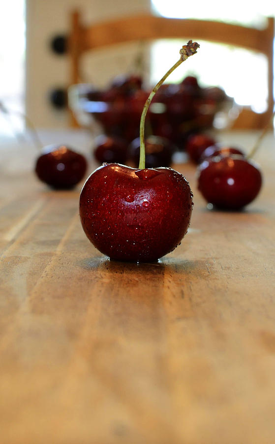 Fruit Photograph - Cherry by Pam Romjue