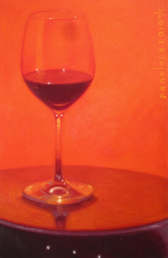 Wine Painting Painting - Cherry Spice by Penelope Moore