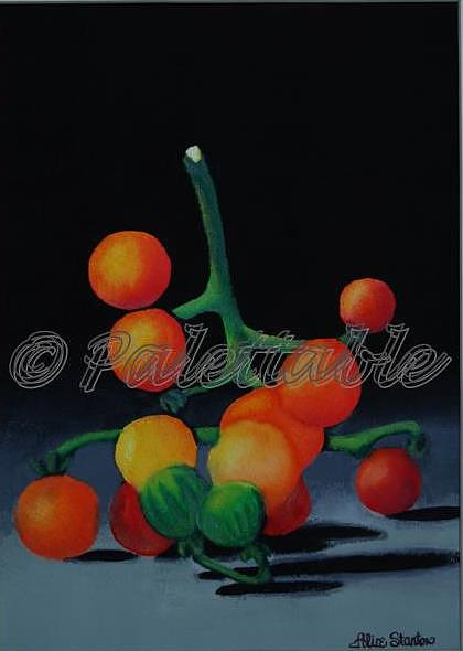 Fruit Painting - Cherry Tomatoes by Alice Stanton