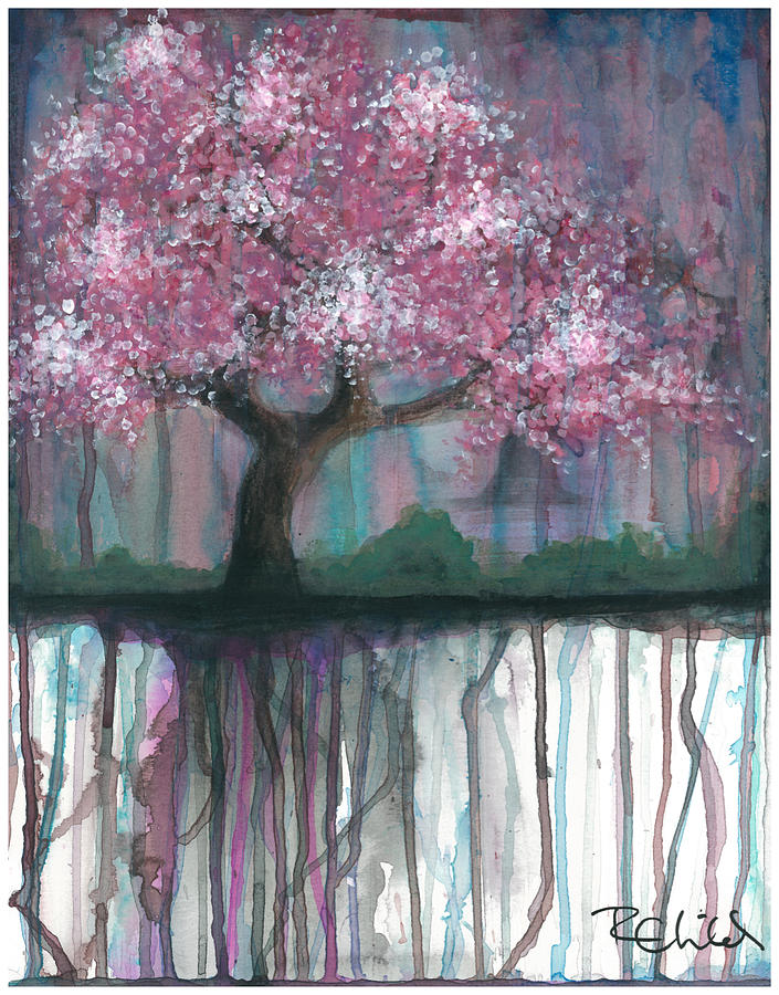 Cherry Painting - Fruit Tree #4 by Rebecca Childs