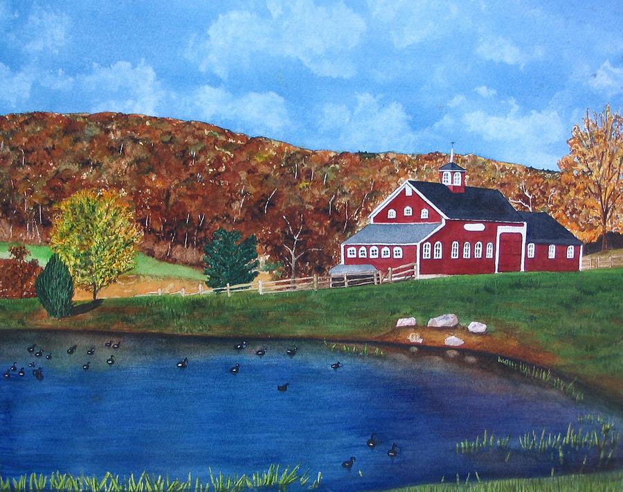 Farm Painting - Cherrybrook Farm by Sharon Farber
