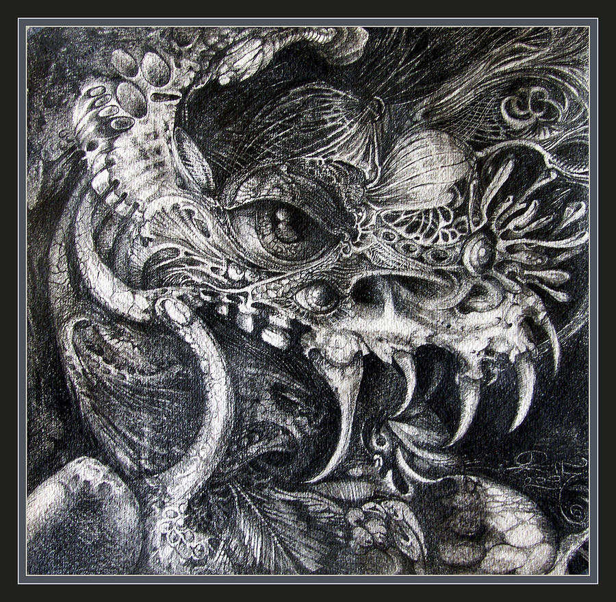 Drawing - Cherubim Of Beasties by Otto Rapp