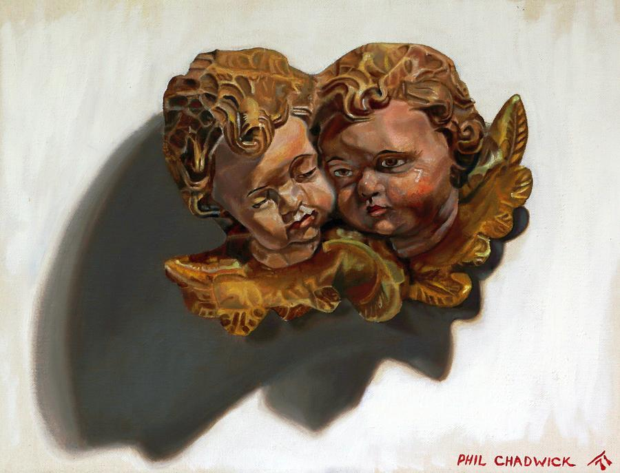 11 Painting - Cherubs by Phil Chadwick
