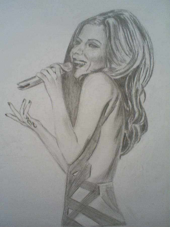 Cheryl Cole Drawing - Cheryl Cole by James Dolan