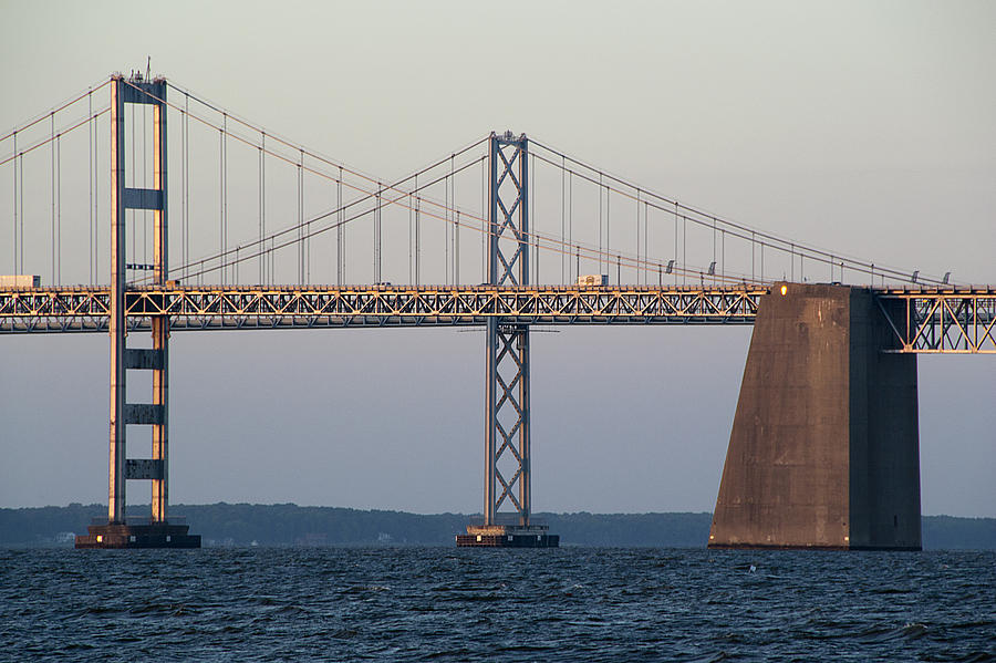 Chesapeake Photograph - Chesapeake Bay Bridge - Maryland by Brendan Reals