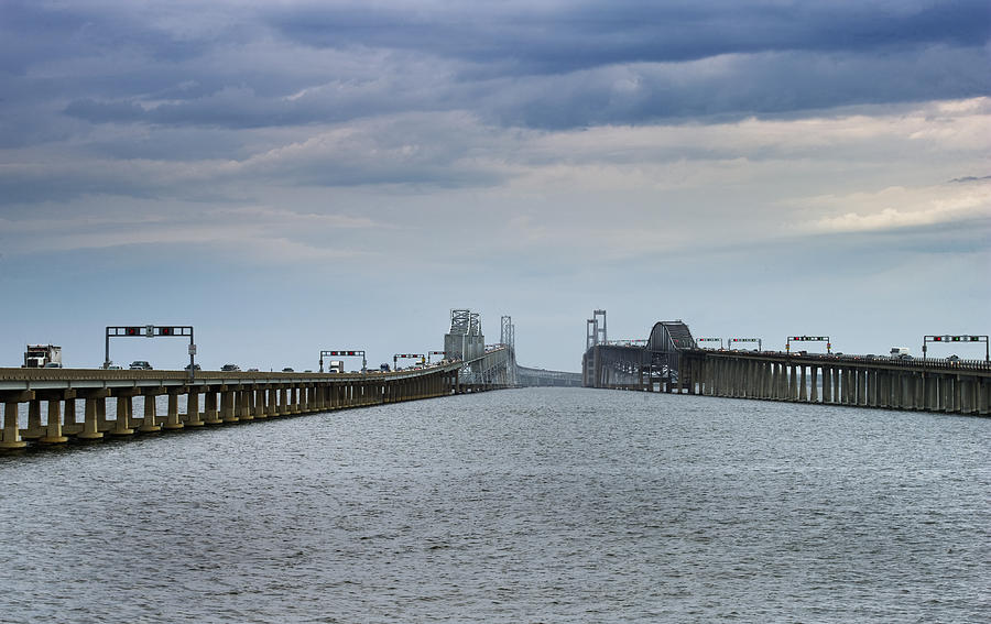 Chesapeake Bay Bridge Photograph - Chesapeake Bay Bridge Maryland by Brendan Reals
