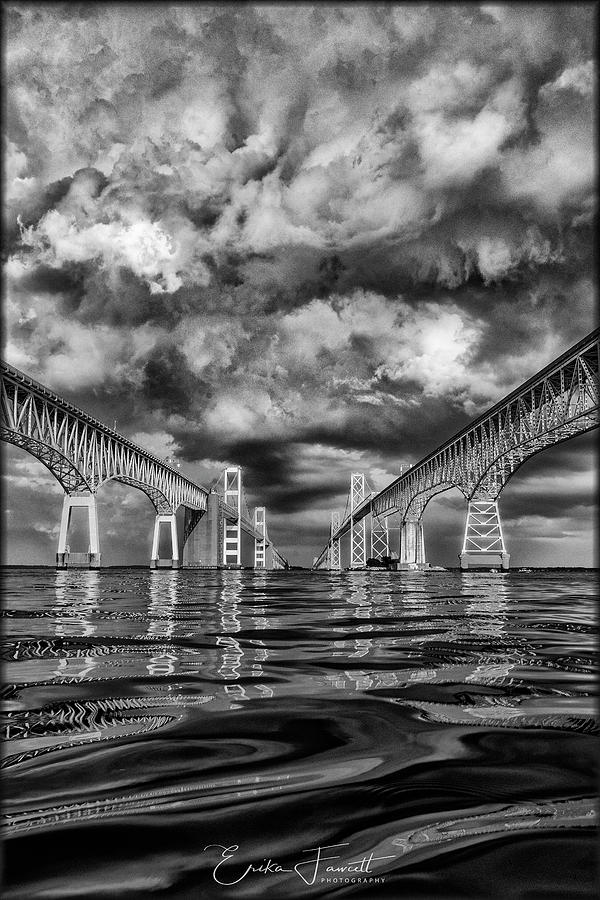 Chesapeake Bay Photograph - Chesapeake Bay Bw by Erika Fawcett