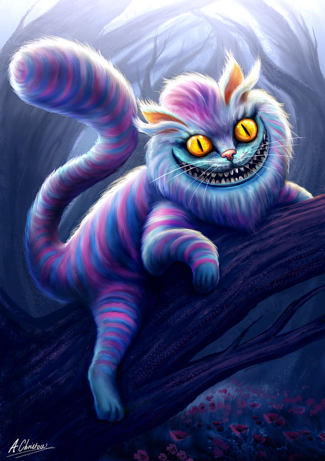 Alice Painting - Cheshire Cat by Anthony Christou