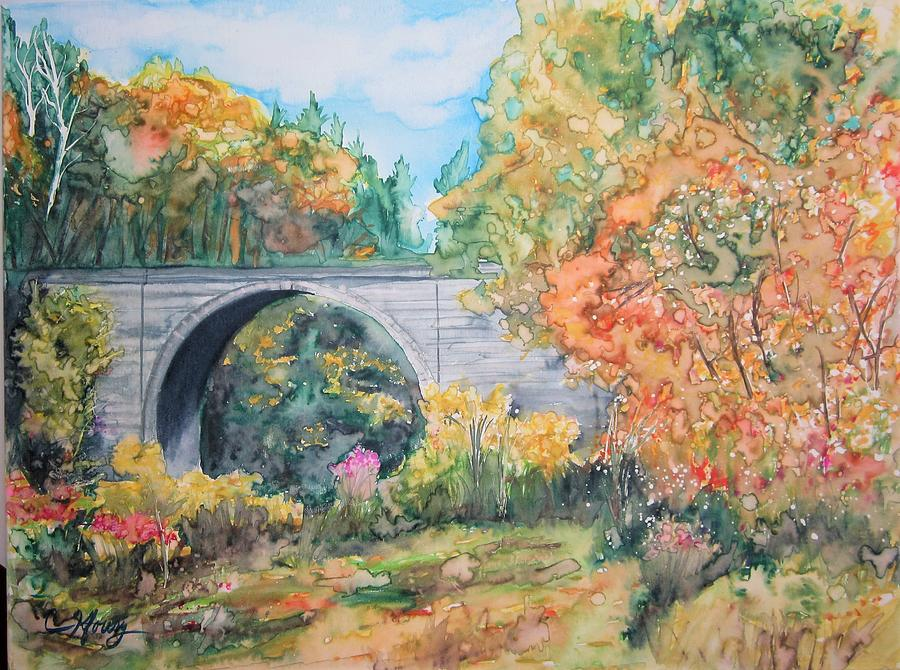 Cheshire Railroad Stone Arch Bridge by Christine Kfoury