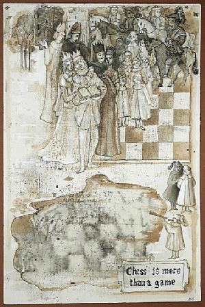 Chess Drawing - Chess Is More Than A Game by Marina Kalinovsky