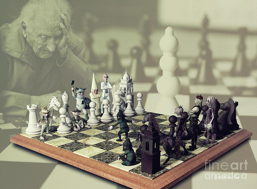 Digital Digital Art - Chess by Jutta Maria Pusl