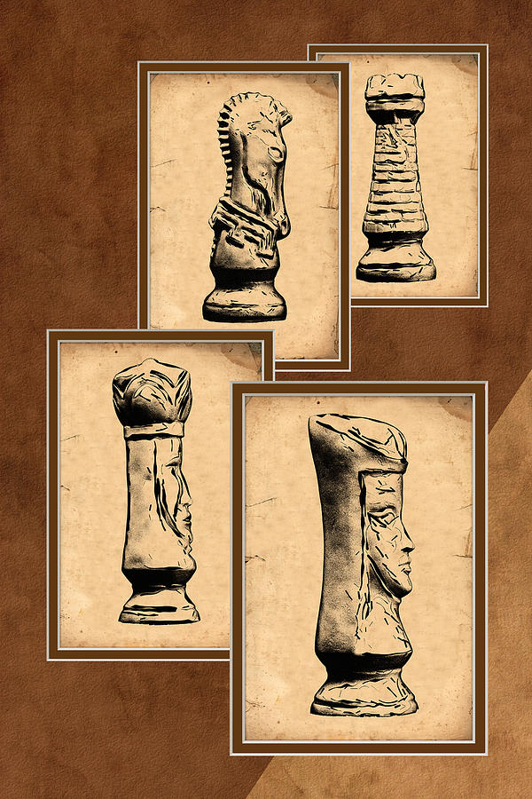 King Photograph - Chess Pieces by Tom Mc Nemar