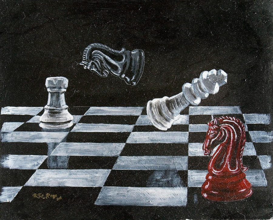 Chess Painting - Chess by Richard Le Page