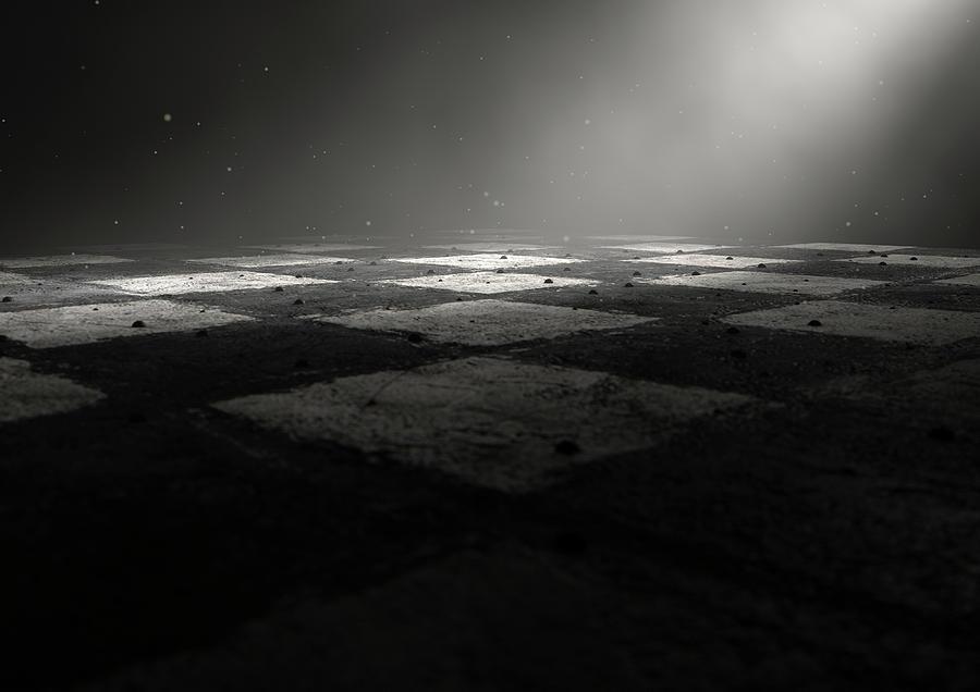 Chess Digital Art - Chessboard Dark by Allan Swart