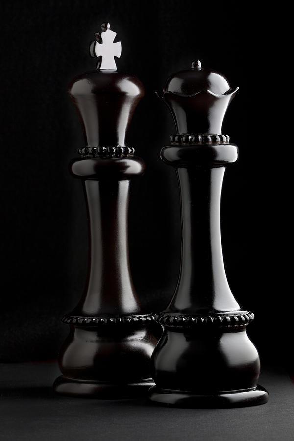 Queen Photograph - Chessmen I by Tom Mc Nemar