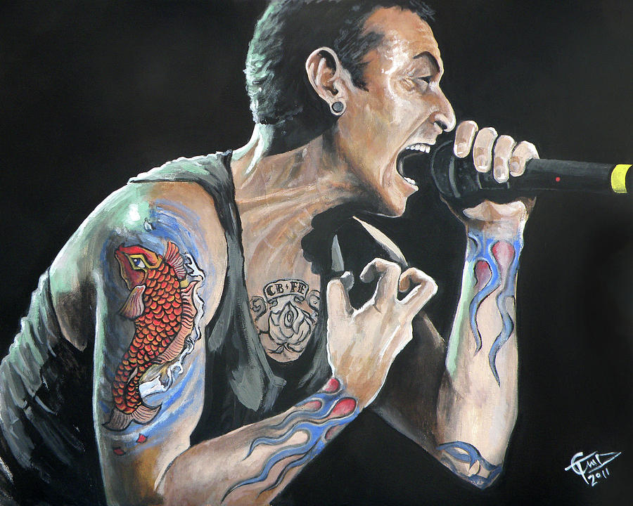 Chester Bennington Painting - Chester Bennington by Tom Carlton