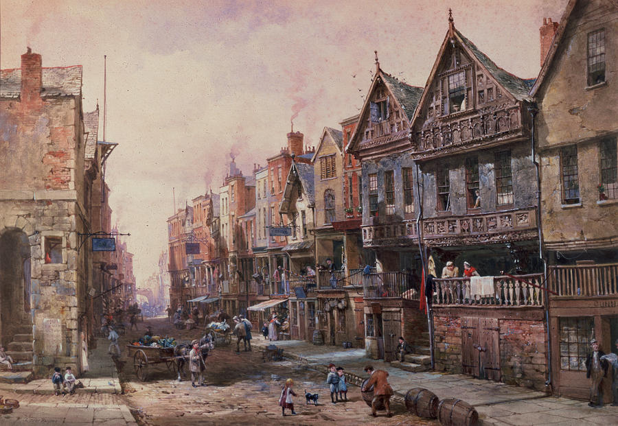Chester Painting - Chester by Louise J Rayner
