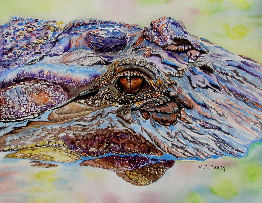 Gator Painting - Chester by Maria Barry