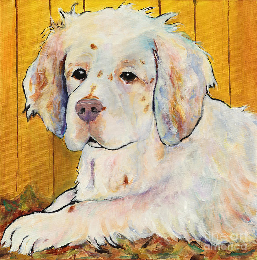 Dog Portrait Painting - Chester by Pat Saunders-White