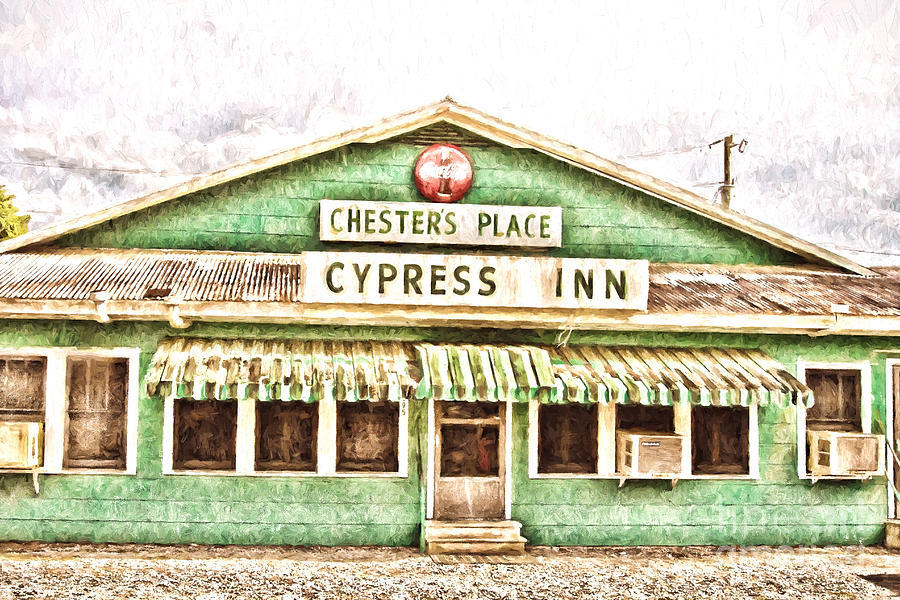 Cypress Inn Photograph - Chesters Place Cypress Inn by Scott Pellegrin