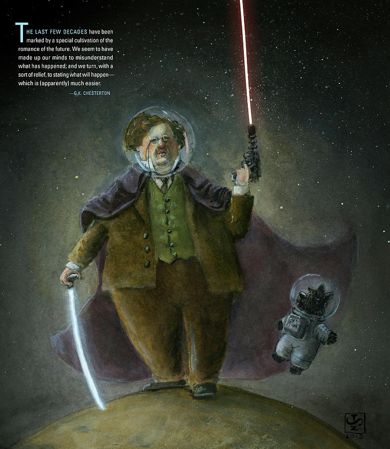 Chesterton Painting - Chesterton In Space by Theodore Schluenderfritz